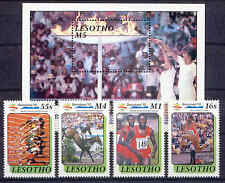 Olympiade 1992, Olympic Games - Lesotho - 860-863, Bl.76 ** MNH