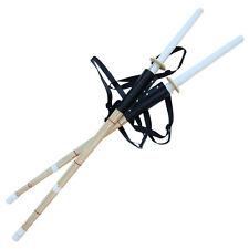Sheath Dual Sparring Shinai Swords Bamboo Combo