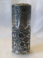 "BLACK STARR & FROST 19th c. Gents Sterling Repousse 3"" Shaving Soap Container"