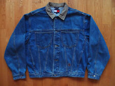 Vintage 90s Tommy Hilfiger Denim Trucker Jacket Size M Medium Wash Blue Jeans