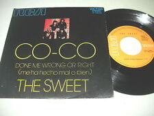 THE SWEET - CO-CO  raro 45 Spagna - Spain unique ps ex++ !! GLAM