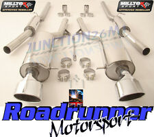 Milltek Audi RS6 C5 Exhaust System Cat Back Resonated 2 x Ovals SSXAU354 & TUV