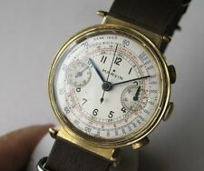 MARVIN CHRONOGRAPH 18K GOLD 36 MM MANUAL Cal. Valjoux 22 RARE WATCH  FOR MEN