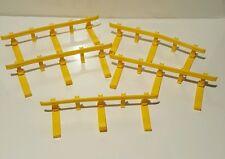Guardrail Lot of 5 GeoTrax Fisher Price Geotrax Yellow Guard Rails Railings