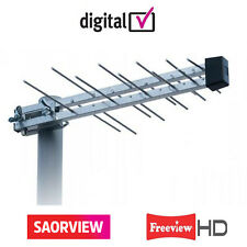UHF Digital Terrestrial Black Wideband Aerial HD & Freeview & Saorview Irish TV