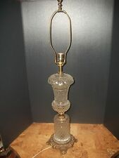 LOEVSKY & LOEVSKY  ABP  CUT GLASS TABLE LAMP