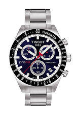 T0444172104100 Tissot PRS 516 Men's Chronograph Blue Dial Steel Strap Watch New