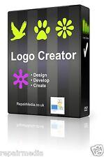 LOGO CREATOR MAKER Designer Professional GRAFICA STAMPA CON LOGO PC SOFTWARE DVD