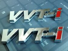 2pcs 3D ABS Trunk Badge Fender Emblem Silver/Red VVTI VVT-I Sticker For Toyota