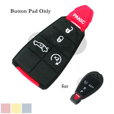 Remote Key Case Button Pad fit for DODGE JEEP Replacement Pad Fob 5 Button