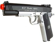 Airsoft Co2 Metal Pistol Gun 500 FPS WG WinGun Special Combat 1911 Two Tone 601