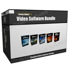 Video Movie Editing Edit DVD Authoring Screen Recorder Software Program Bundle