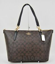 Coach Signature Ava Tote Shoulder Bag Handbag Purse Brown Black F58318 New NWT