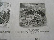 Caricature 1865 de 12 vignette 1 sur Baleine s'appelait Emilie
