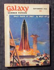1952 Sept GALAXY Science Fiction Digest Magazine VG+ 4.5 Willy Ley