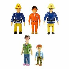 Fireman Sam 5 Figure Pack - Elvis, Norman Dilys, Fireman Sam & Pilot Tom NEW