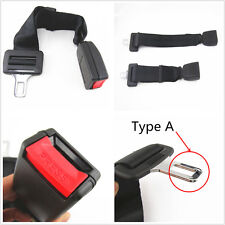 "Car Adjustable Seat Belt Buckle Extender 15""-19"" Type A,Black-E4 Safe For Jeep"