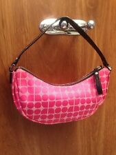 Kate Spade signature small pink  Hobo Style bag with logo print