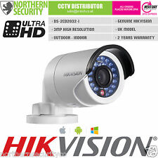 UK MODEL! Hikvision DS-2CD2032-I 4mm 3MP 2MP 1080P POE Network IP Camera HD CCTV