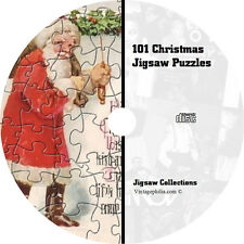 * 101 VINTAGE CHRISTMAS COMPUTER JIGSAW PUZZLES GAME ON CD NEW *
