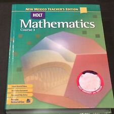 Holt Mathematics Course 3 New Mexico Teacher's Edition 2007 USED 0030923387