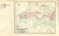 BOER WAR  BATTLE MAPS - ATTACK ON THE PLATRAND - THE TIMES HISTORY  (1902)