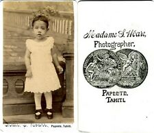 ancienne photo CDV albumen TAHITI royal family S HOARE PAPEETE tahitian baby