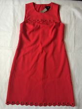 NEW J CREW Scalloped Dress With Grommets Red Cocktail Sz. 00P J.Crew Petite