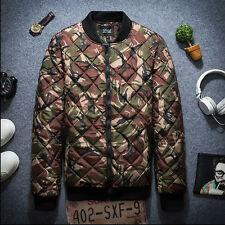 Mens Fashion Camouflage Slim Fit Baseball Collar Romber Jacket Coat Tops Outwear
