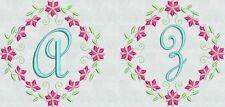 Machine Embroidery Fonts Designs Floral Fancy Frame Brother Bernina Singer New