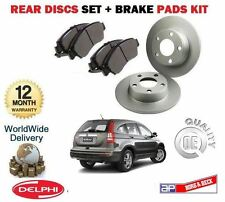 FOR HONDA CRV 2.0i 2.2  DTEC 2006-2012 NEW REAR BRAKE DISCS SET + DISC PAD KIT