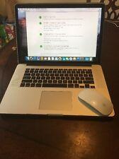 Apple MacBook Pro, Mid 2015, 2.5 Ghz i7, 16GB, 500 GB Warrant Until 8/17/18