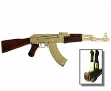 Gold-Plated AK-47 Authentic Replica Russian Assault Rifle Non-Firing Gun Prop