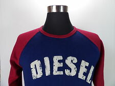 Women's DIESEL T-shirt Long sleeve, Size L Large, Blue, 100%Cotton #BL321
