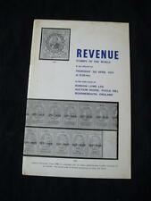 ROBSON LOWE AUCTION CATALOGUE 1975 REVENUE STAMPS OF THE WORLD with 'HILCHEY'