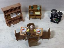 Sylvanian Families, Calico Critters Furniture, Accessory, Chair, Stove,Table-LOT