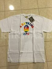 A Bathing Ape Bape Rainbow College Tee