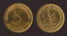 GERMANIA GERMANY 5 PFENNIG 1984 G