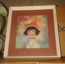 """Vintage/Retro 1960s Soulet """"Emma"""" Print in Original Frame - VGC"""