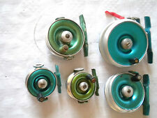 Vintage fly fishing reels collection Peerless profil etc 7,5 6 5.5 2x 4.5 cms