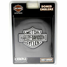Original Harley Davidson HD Logo Chrome domed Emblème Autocollant Décalque sticker neuf