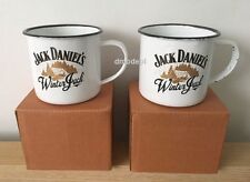 2 X Genuine Limited Edition JACK DANIELS Winter Jack Tin Mug Brand New in Box