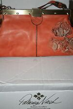 Patricia Nash Ferrara Frame Satchel Orange/Pink Oil Rub NWOT/Bag RAREColorLAST 1