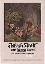 RÜDESHEIM, Werbung 1918, Hugo Asbach Weinbrand Asbach Uralt deutscher Cognac