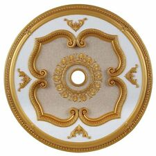 """Elegant Lighting 43"""" Medallion Ceiling Canopy in Gold Accessories"""