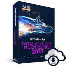 Bitdefender Total Security Multi-Device 2017 | 5 | 1 | año dispositivo licencia ESD