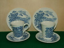 WEDGWOOD  COUNTRYSIDE PATTERN    TWO MUGS WITH SAUCER AND PLATES