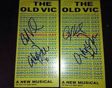 Carlyss Peer and Andy Karl Groundhog Day Signed Theatre Flyer At The Old Vic