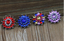 4PCS  Rhinestone Drill Snaps Chunk Charm Button Fit  Leather Bracelets HOT