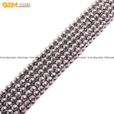 """10mm Faceted Silver-plated Hematite Gemstone Beads 15"""" No-magnetic"""